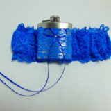 Royal Blue Lace HipFlask Bridal Wedding Garter