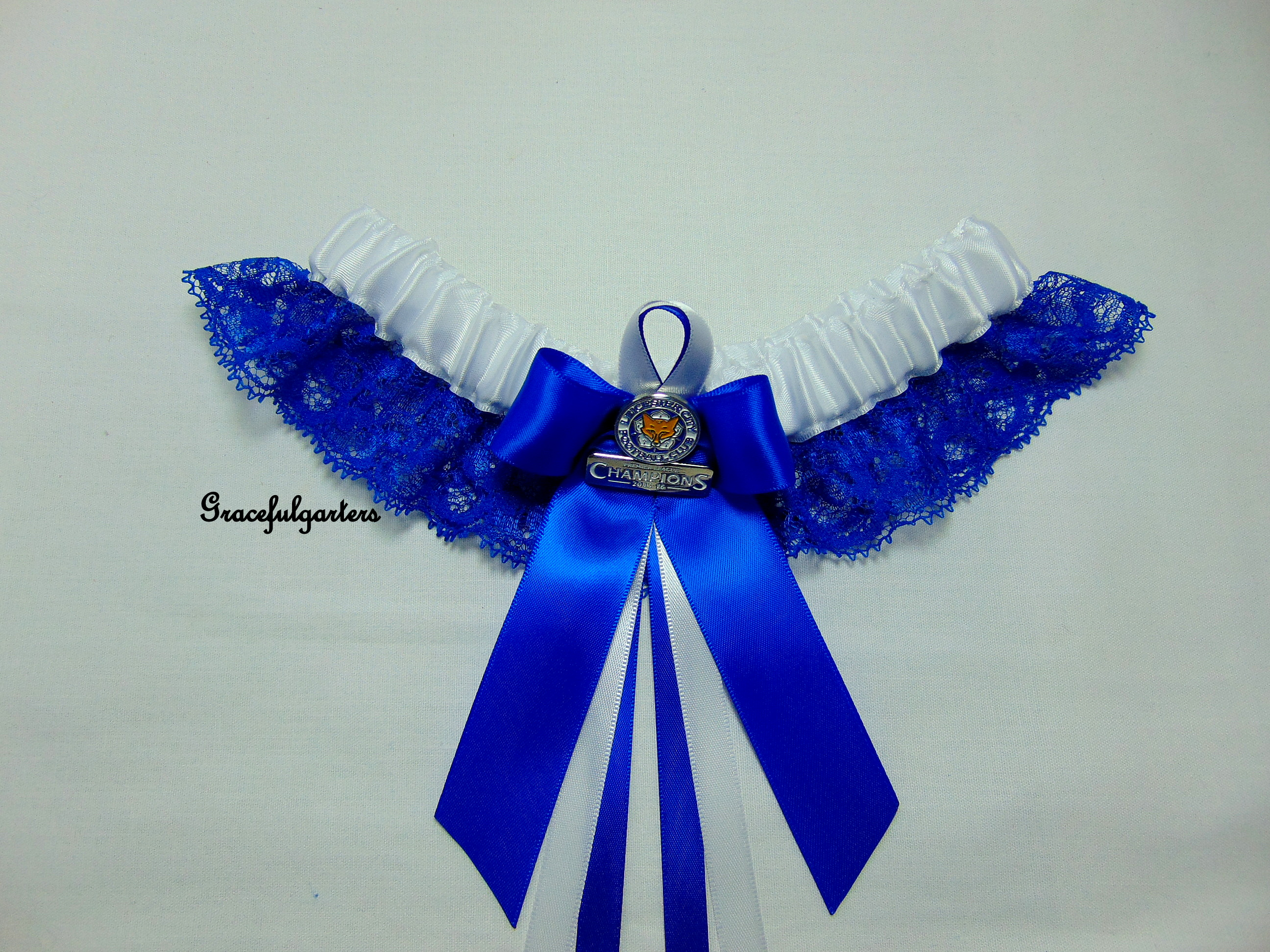 Leicester City Football Team Lace Bridal Wedding Garter