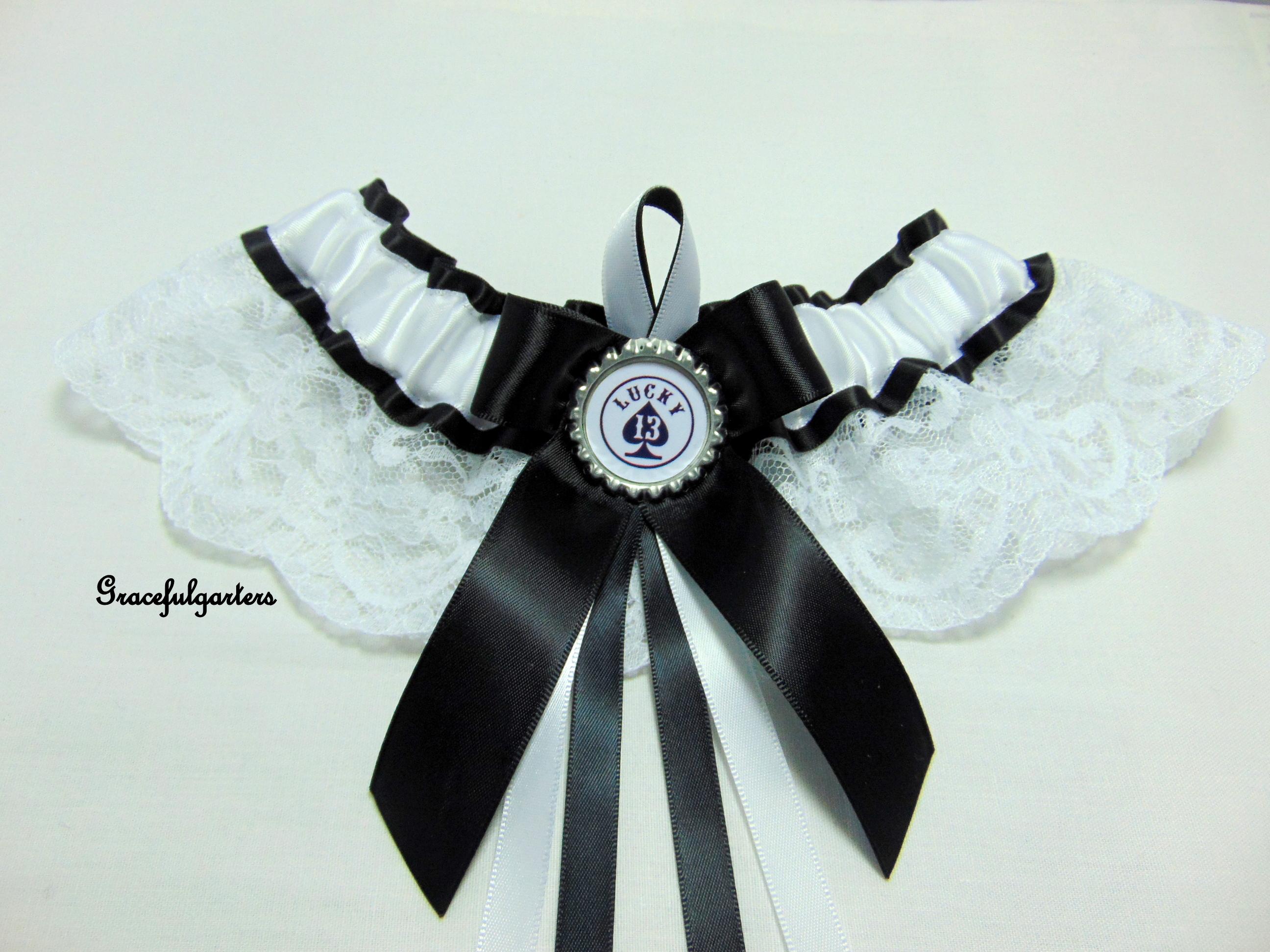 lucky 13 lace bridal wedding garter