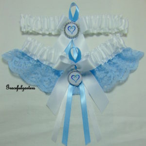 Kingdom Hearts Lace Bridal Wedding Garter Set