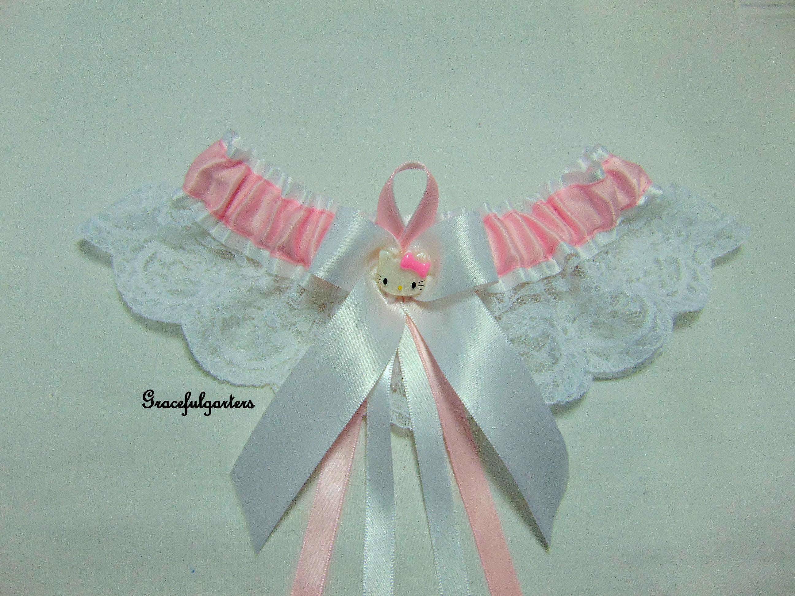 Hello Kitty Kitten Lace Bridal Wedding Garter