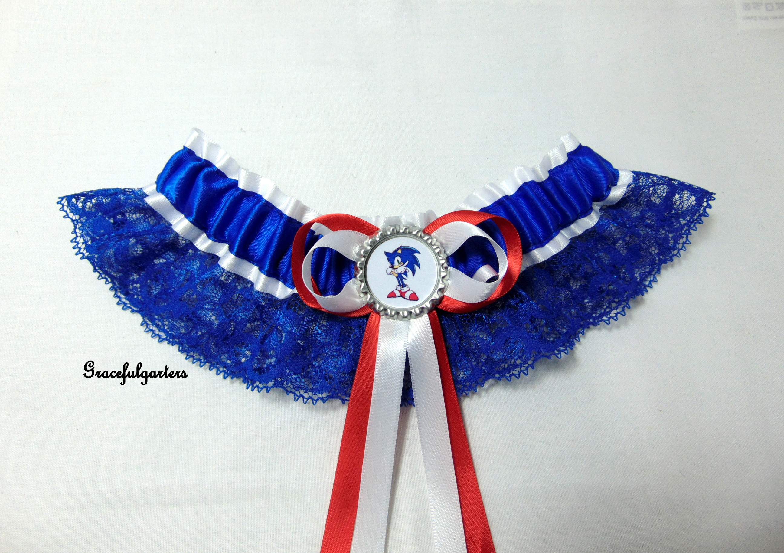 Sonic The Hedgehog Lace Bridal Wedding Garter