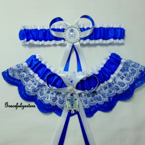 Starwars R2D2 Lace Bridal wedding Garter Set