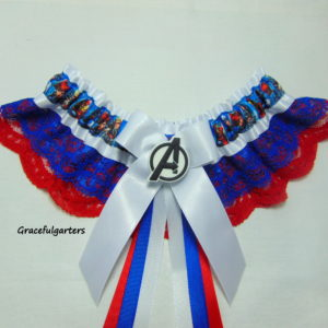Marvel Avengers Lace Bridal Wedding Garter
