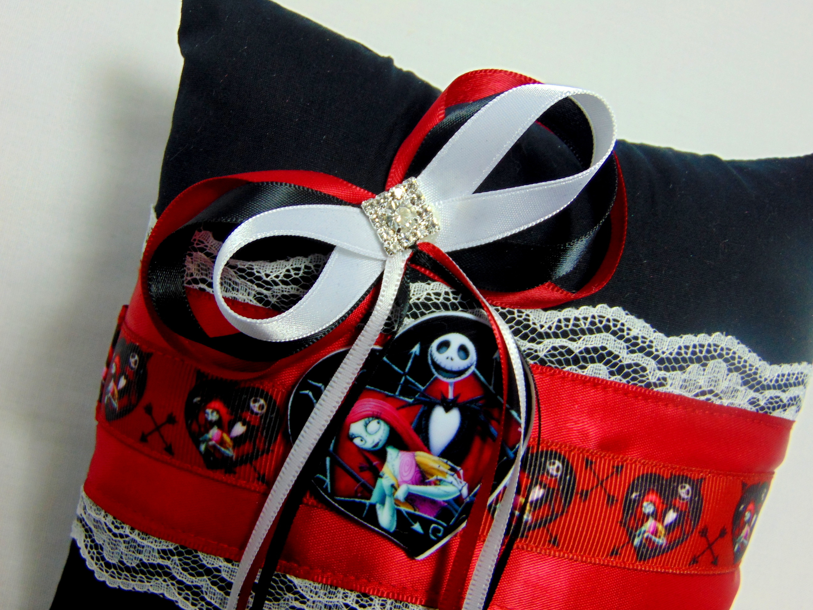 Jack And Sally Nightmare Before Christmas Ring Cushion/Pillow ...