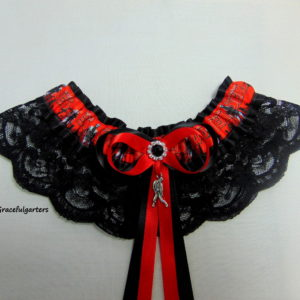 Walking Dead Zombie Lace Bridal Wedding Garter