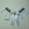 Rainbow White Lace Bridal Wedding Garter