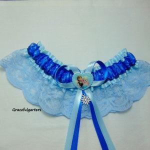 Frozen Disney Anna & Elsa Lace Bridal Wedding Garter
