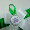 Green & White Lace Football Team Sports Bridal Wedding Garter