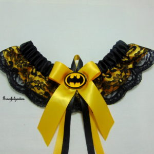 DC Comics Batman Superhero Bridal wedding Garter