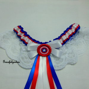 Captain America Superhero Lace Bridal Wedding Garter