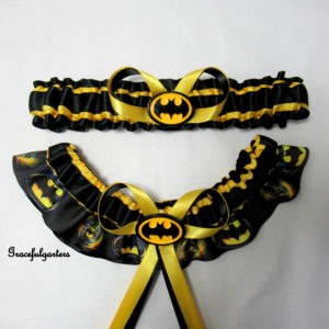 DC Comics Batman Superhero Bridal wedding Garter set