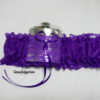 Purple Lace HipFlask Bridal Wedding Garter