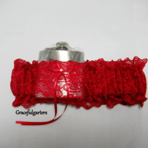 Dark Red HipFlask Bridal Wedding Garter