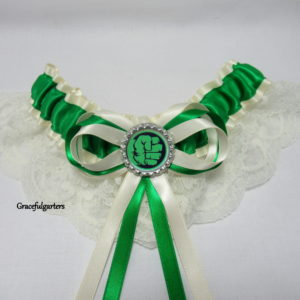 Incredible Hulk Lace Bridal Wedding Garter