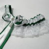 Irish St Patricks Day Lucky Lace Bridal Wedding Garter & Ring Cushion/Pillow Set