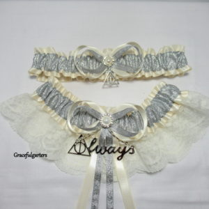 ivory harry potter garter set
