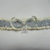 Harry Potter Deathly Hallows Ivory Lace Bridal Wedding Garter Set