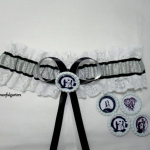 Jack And Sally Nightmare Before Christmas Lace Bridal Wedding Garter