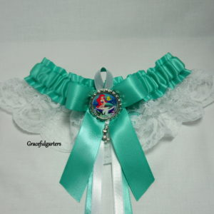 7b7a84152 ... Ariel The Little Mermaid Tropical Disney Lace Wedding Garter