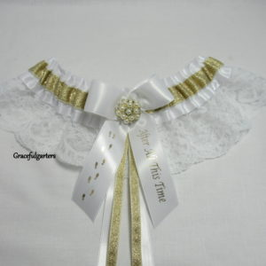 Harry Potter After All This Time Footprints Lace Bridal Wedding Garter