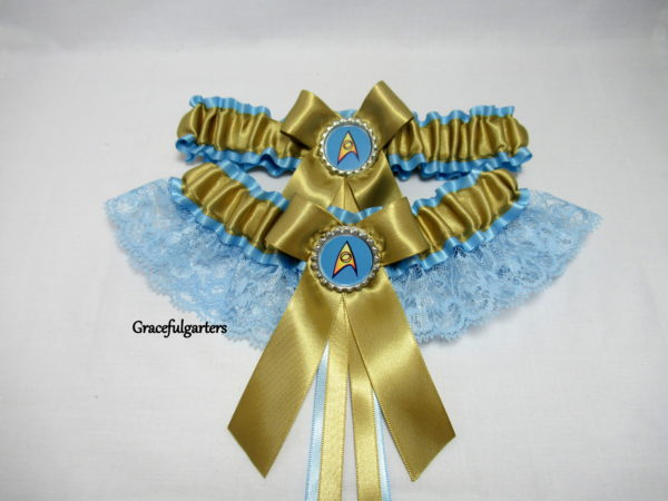 Star Trek lace Bridal Wedding Garter set