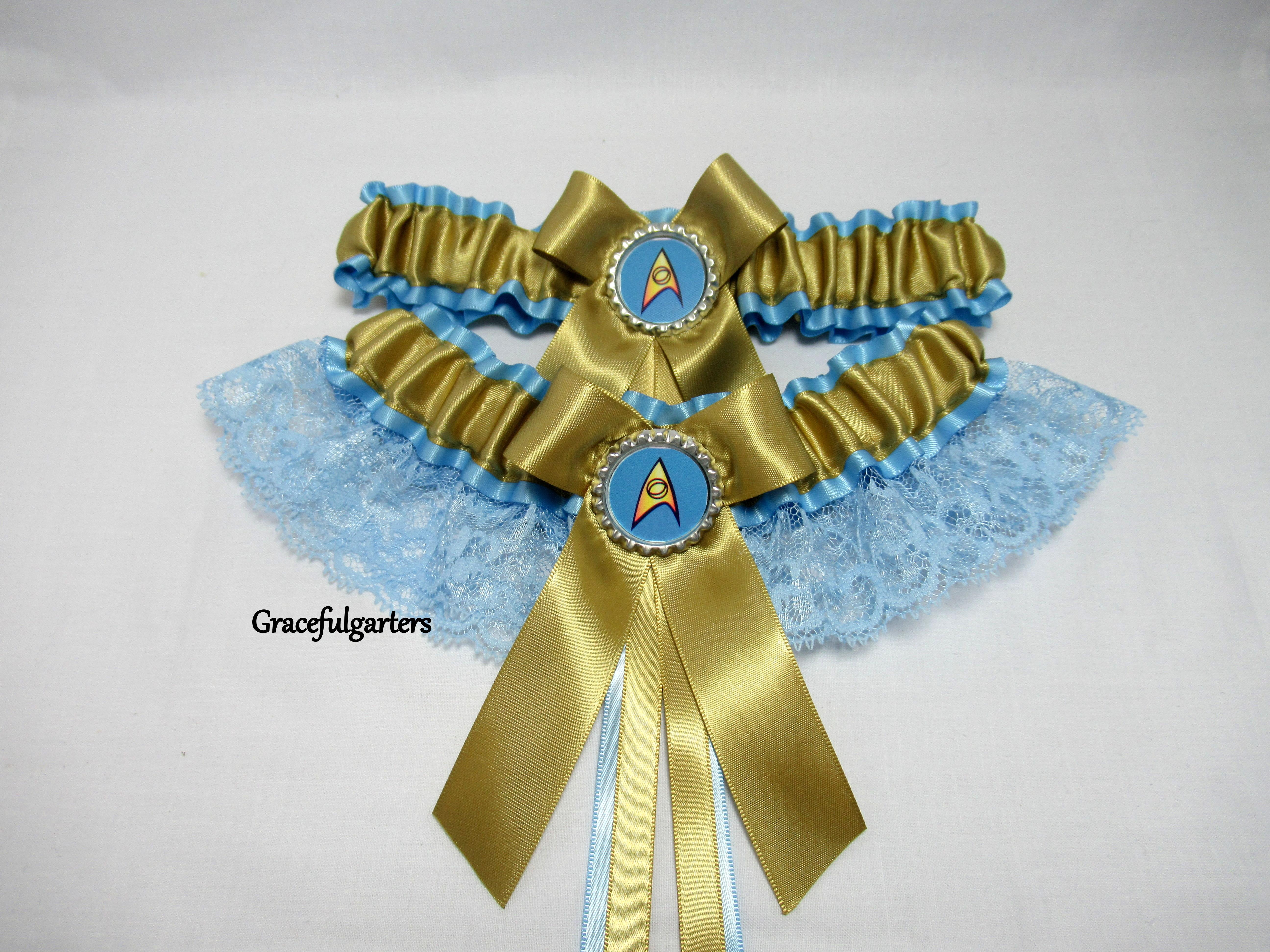 26c4dbb4f3c Star Trek Lace Bridal Wedding Garter Set - GracefulGarters