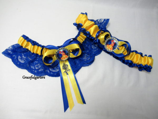 Disney Beauty and the Beast Lace Wedding Bridal Garter Set