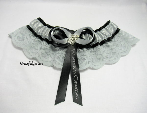 Game of Thrones Winter Is Coming Lace Bridal Wedding Garter