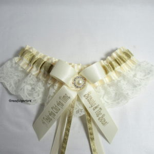 Disney Beauty And The Beast A Tale As Old AS Time Lace Bridal Wedding Garter