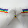 Rainbow Gay Pride White Lace Trimmed Bridal Wedding Garter