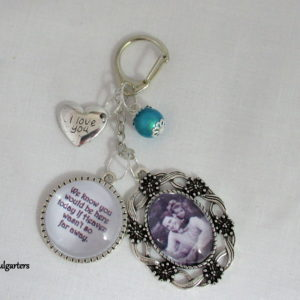 Bridal Bouquet Heaven Memory Photo Charm Keyring