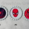 Spiderman Superhero Organza Trimmed Bridal Wedding Garter