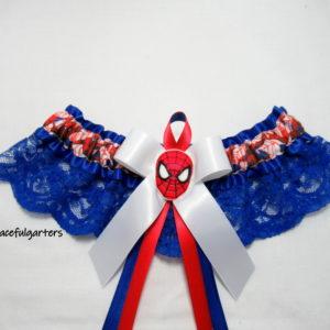 Amazing Spiderman Superhero Lace Bridal Wedding Garter