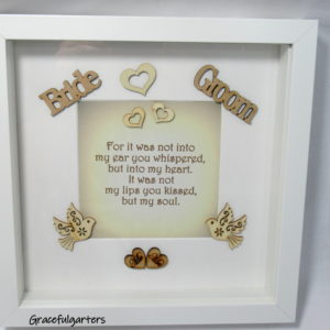 Wooden Wedding Box Frame. Memory Frame