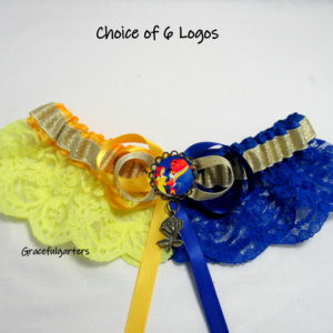 Beauty & The Beast Half N Half Lace Bridal Wedding Garter