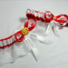 Manchester United Lace Football Bridal Wedding Garter Set