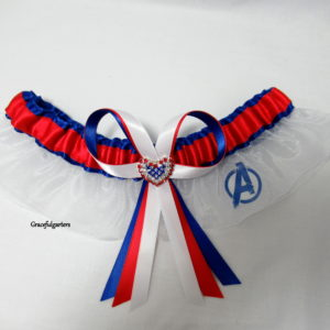 Marvel Avengers Superhero Organza Bridal Wedding Garter