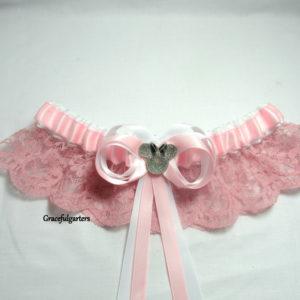 Disney Minnie Mouse Pink Lace Bridal Wedding Garter