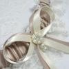 Vintage Inspired Pearl And Diamante Bridal Wedding Garter.