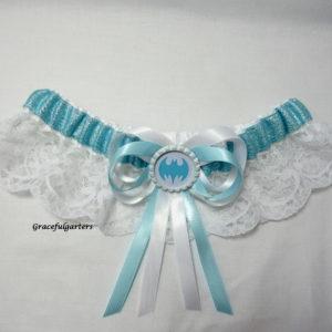 Batman Superhero Lace Sparkle Bridal wedding Garter