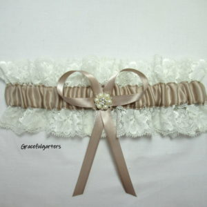 Vintage Inspired Lace Wedding Garter Boho Garter.