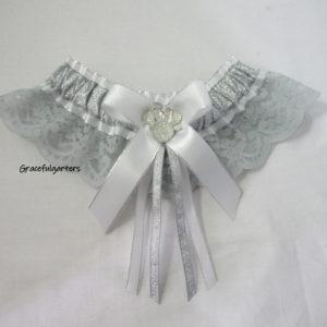 Minnie Mouse grey Lace Disney Bridal Wedding Garter