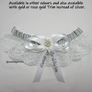 Harry Potter Themed After All This Time Always Lace Bridal Wedding Garter
