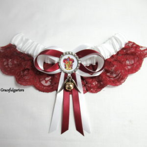 Harry Potter Gryffindor & Snitch Lace Bridal Wedding Garter